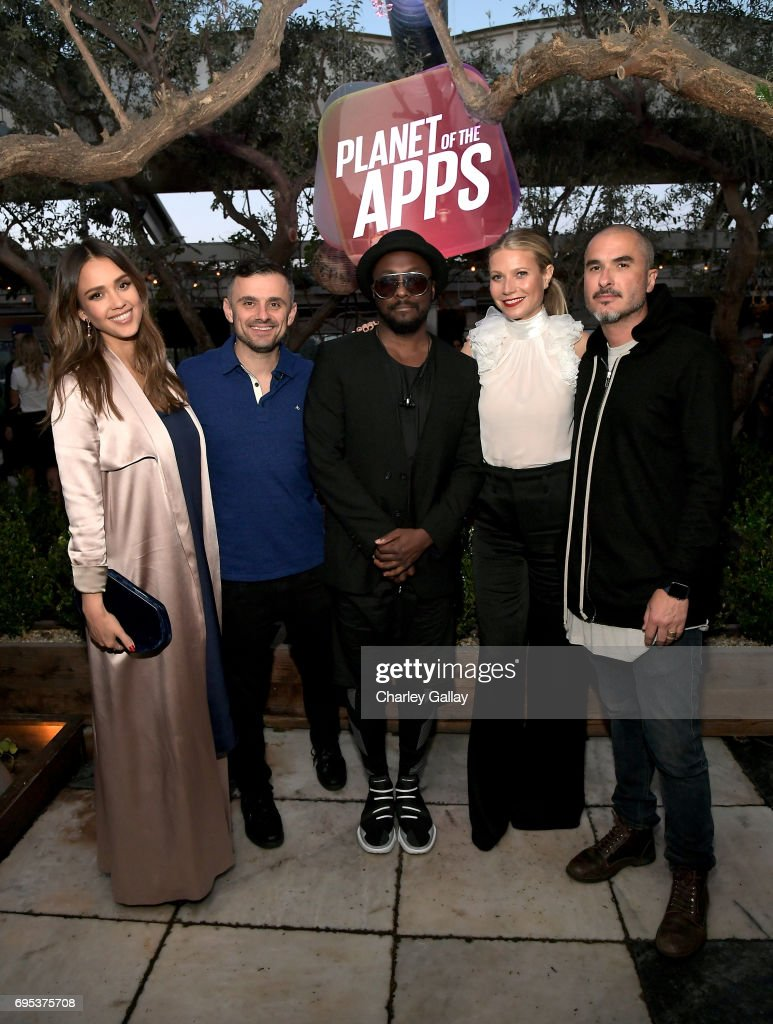 Jessica Alba, Gary Vaynerchuk, will.i.am, Gwyneth Paltrow, and Zane Lowe attend Apple Music's Planet of the Apps Party at Soho House on June 12, 2017 in West Hollywood, California.