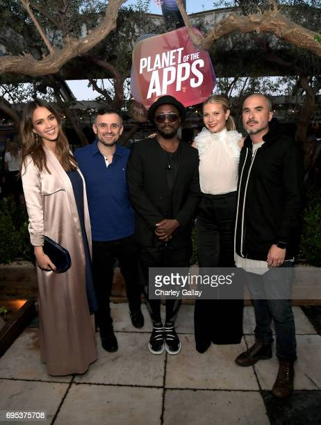 Jessica Alba Gary Vaynerchuk william Gwyneth Paltrow and Zane Lowe attend Apple Music's Planet of the Apps Party at Soho House on June 12 2017 in...