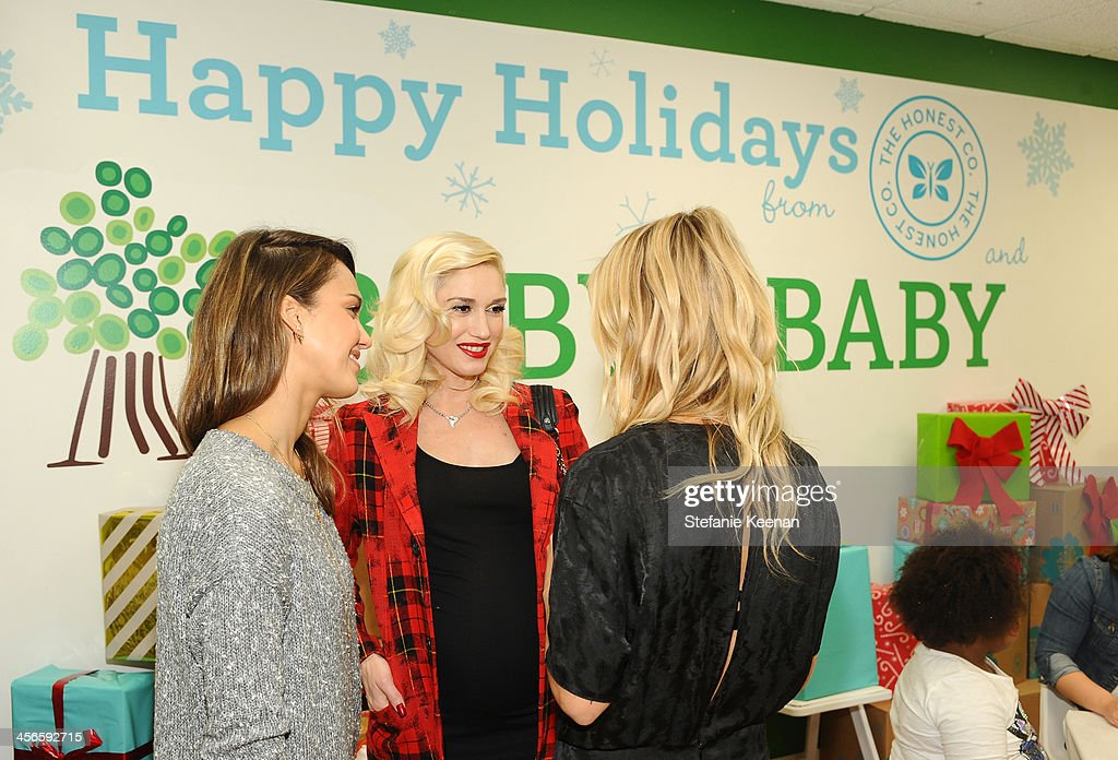 <a gi-track='captionPersonalityLinkClicked' href=/galleries/search?phrase=Jessica+Alba&family=editorial&specificpeople=201811 ng-click='$event.stopPropagation()'>Jessica Alba</a>, <a gi-track='captionPersonalityLinkClicked' href=/galleries/search?phrase=Gwen+Stefani&family=editorial&specificpeople=156423 ng-click='$event.stopPropagation()'>Gwen Stefani</a> and Kelly Sawyer attend the Third Annual Baby2Baby Holiday Party presented by The Honest Company on December 14, 2013 in Los Angeles, California.