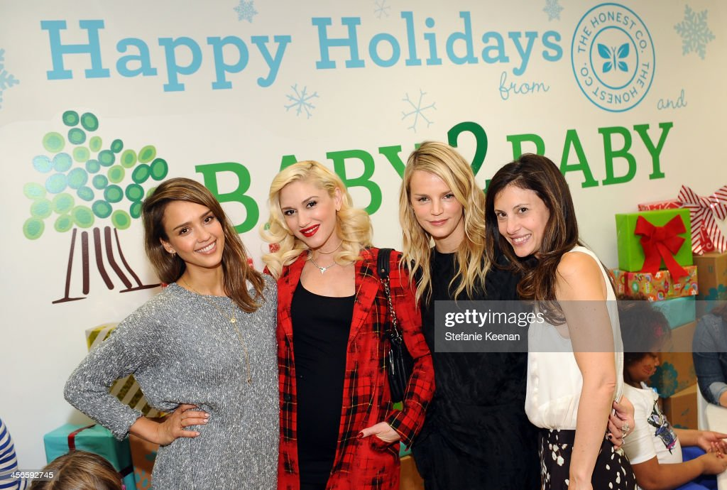 <a gi-track='captionPersonalityLinkClicked' href=/galleries/search?phrase=Jessica+Alba&family=editorial&specificpeople=201811 ng-click='$event.stopPropagation()'>Jessica Alba</a>, <a gi-track='captionPersonalityLinkClicked' href=/galleries/search?phrase=Gwen+Stefani&family=editorial&specificpeople=156423 ng-click='$event.stopPropagation()'>Gwen Stefani</a>, Kelly Sawyer and Norah Weinstein attend the Third Annual Baby2Baby Holiday Party presented by The Honest Company on December 14, 2013 in Los Angeles, California.