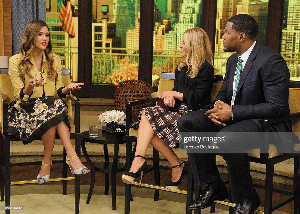 MICHAEL -5/8/13 - Jessica Alba is a guest on 'LIVE with Kelly and Michael,' distributed by Disney-ABC Domestic Television. JESSICA