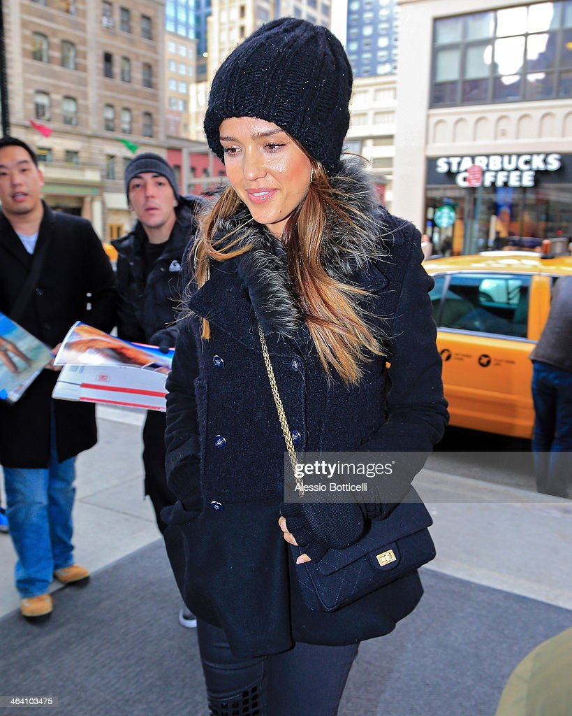 <a gi-track='captionPersonalityLinkClicked' href=/galleries/search?phrase=Jessica+Alba&family=editorial&specificpeople=201811 ng-click='$event.stopPropagation()'>Jessica Alba</a> is seen arriving at Trump SoHo Hotel on January 20, 2014 in New York City.