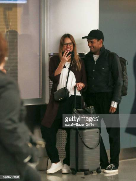 Jessica Alba is seen at John F Kennedy International Airport on September 07 2017 in New York City