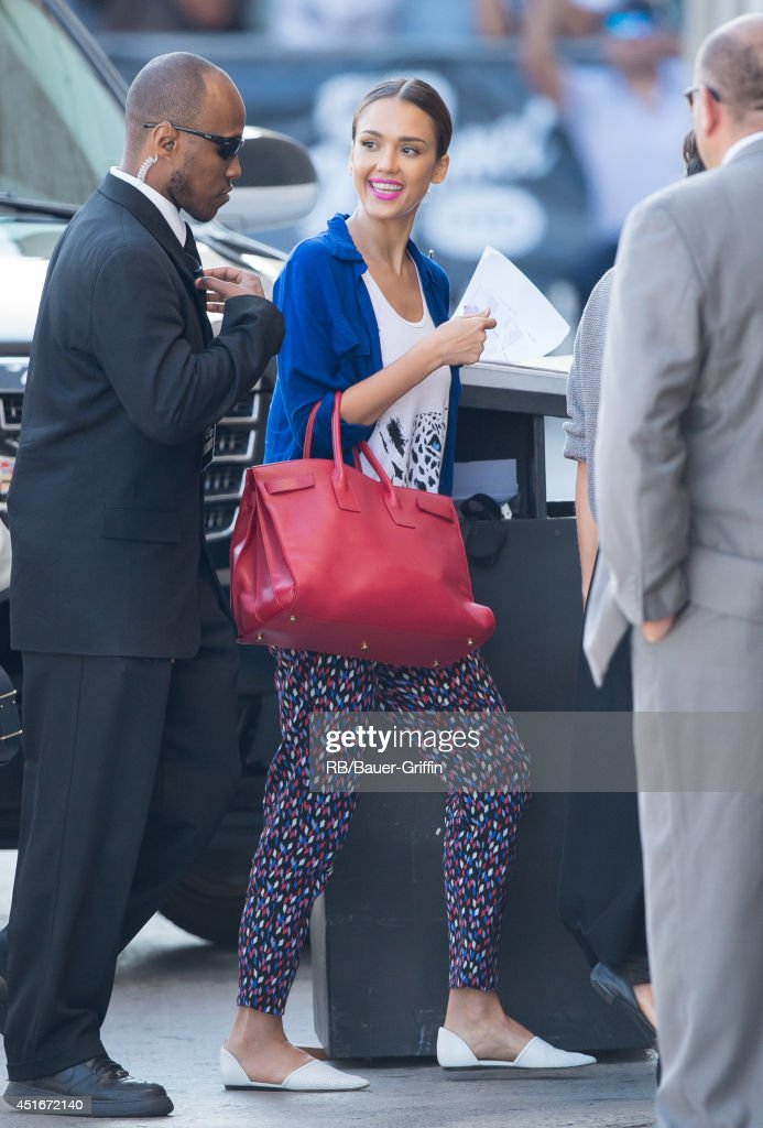 Jessica Alba is seen in Hollywood on July 03, 2014 in Los Angeles, California.