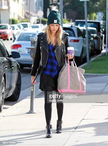 Jessica Alba is seen in Los Angeles on December 14 2014 in Los Angeles California