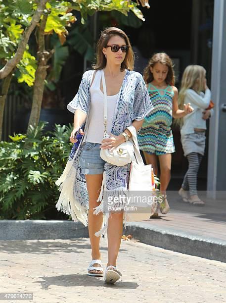 Jessica Alba is seen in Malibu on July 05 2015 in Los Angeles California