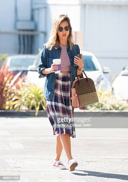 Jessica Alba is seen in Santa Monica on March 12 2015 in Los Angeles California