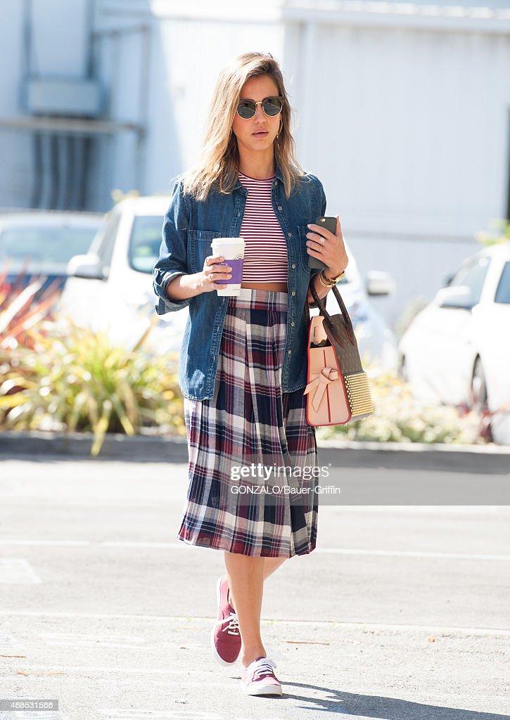 Jessica Alba is seen in Santa Monica on March 12 2015 in Los Angeles California