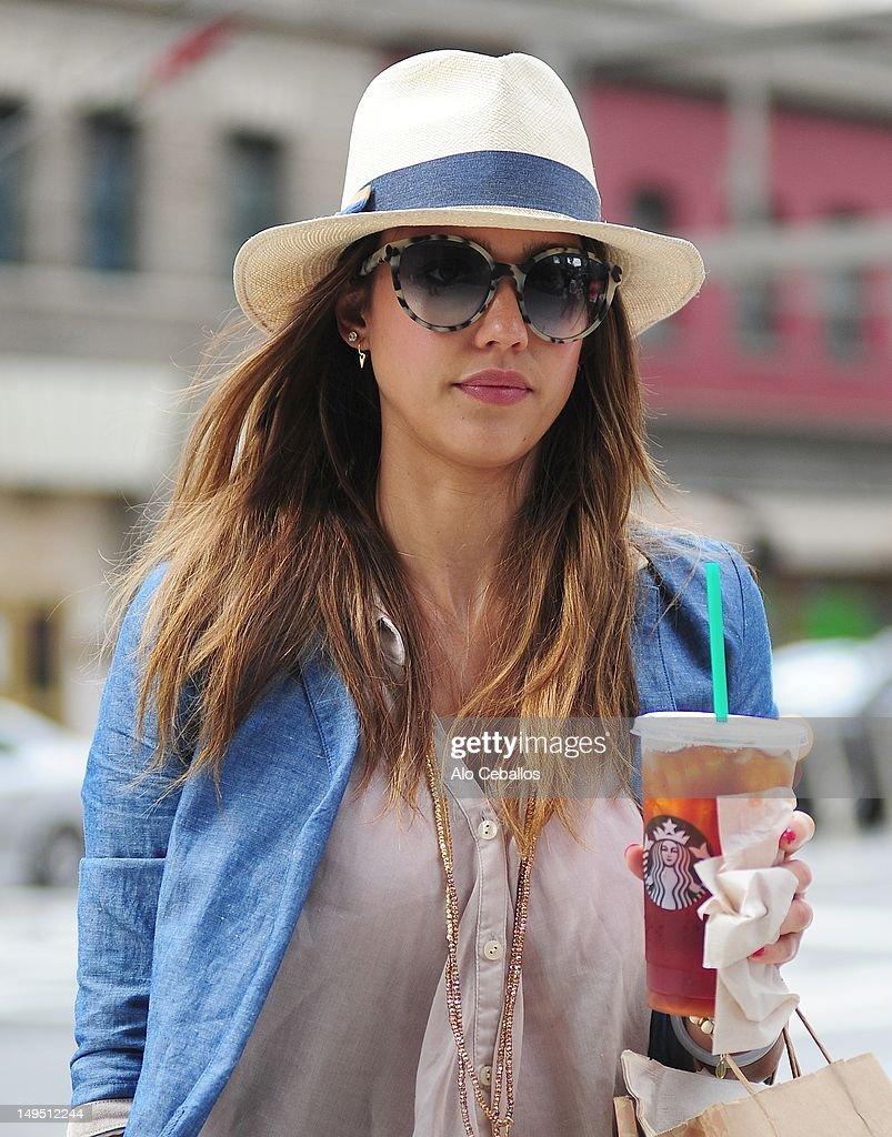 Jessica Alba is seen in the SoHo neighborhood on July 29 2012 in New York City