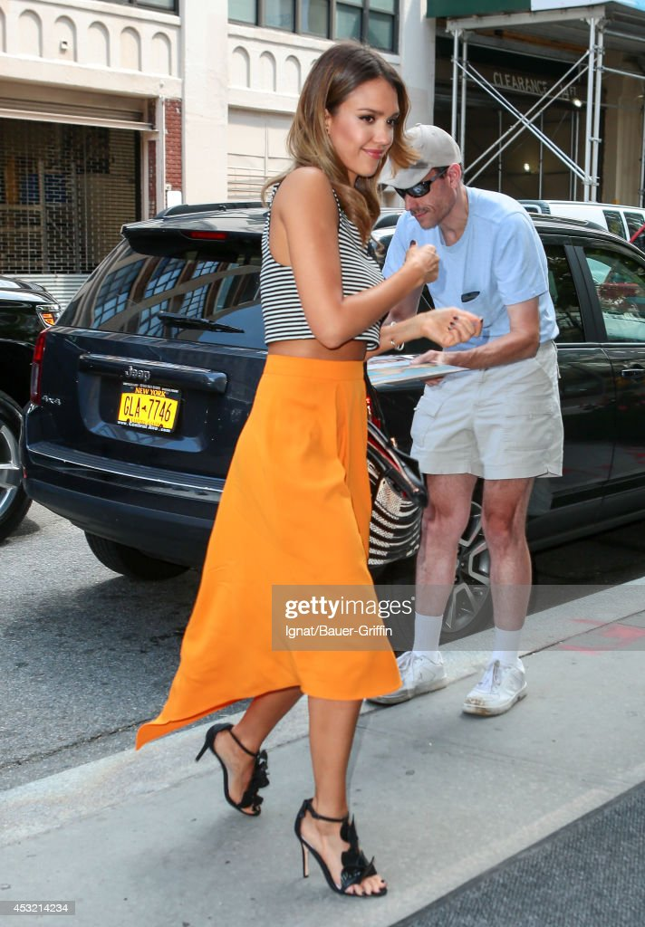 Jessica Alba is seen on August 05 2014 in New York City