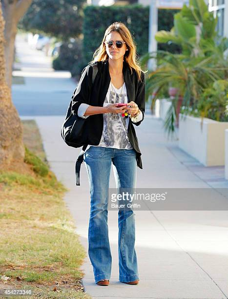 Jessica Alba is seen on August 27 2014 in Los Angeles California