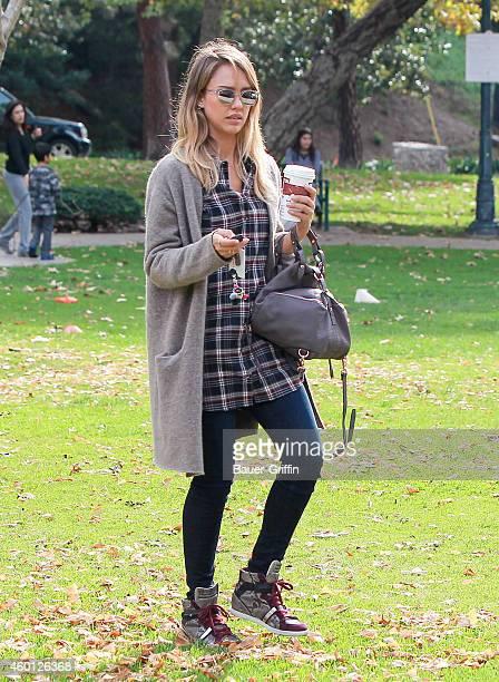 Jessica Alba is seen on December 07 2014 in Los Angeles California