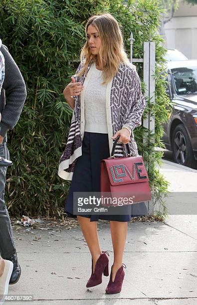 Jessica Alba is seen on December 21 2014 in Los Angeles California