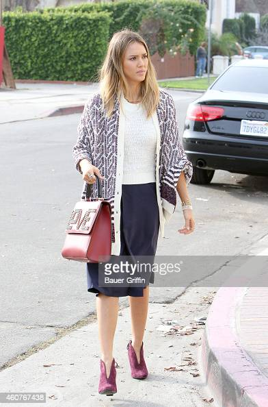 Jessica Alba is seen on December 21 2014 in Los Angeles California