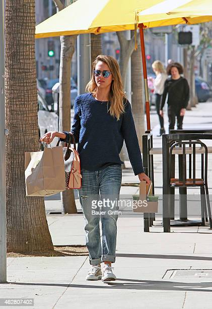 Jessica Alba is seen on February 05 2015 in Los Angeles California