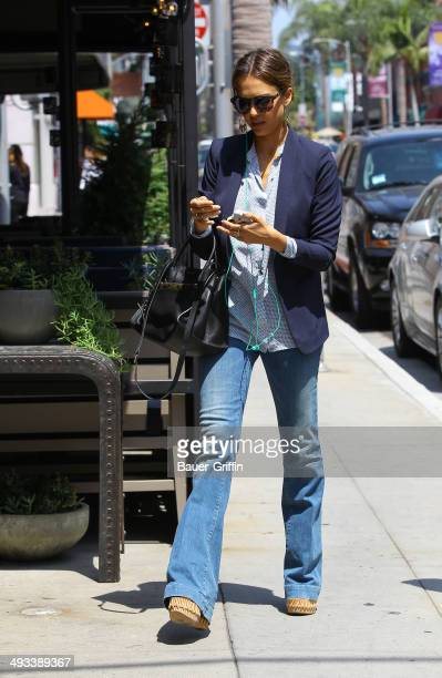 Jessica Alba is seen on May 23 2014 in Los Angeles California