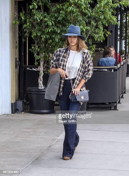 Jessica Alba is seen on November 15 2015 in Los Angeles California