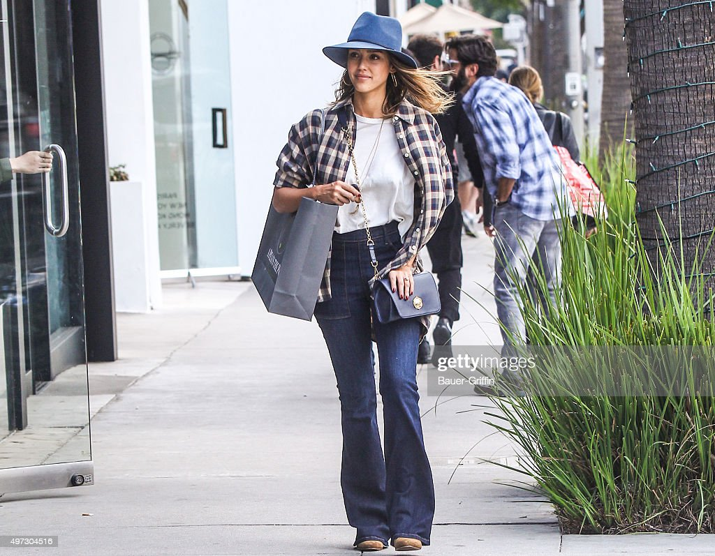 Jessica Alba is seen on November 15, 2015 in Los Angeles, California.