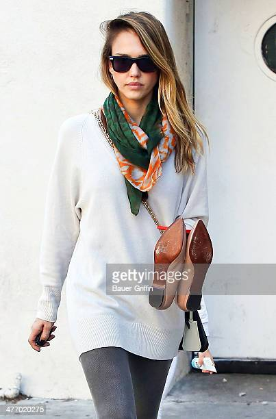 Jessica Alba is seen on November 25 2012 in Los Angeles California