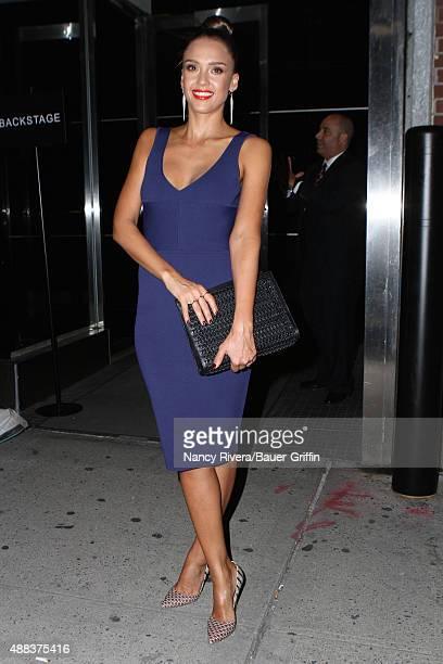 Jessica Alba is seen on September 15 2015 in New York City