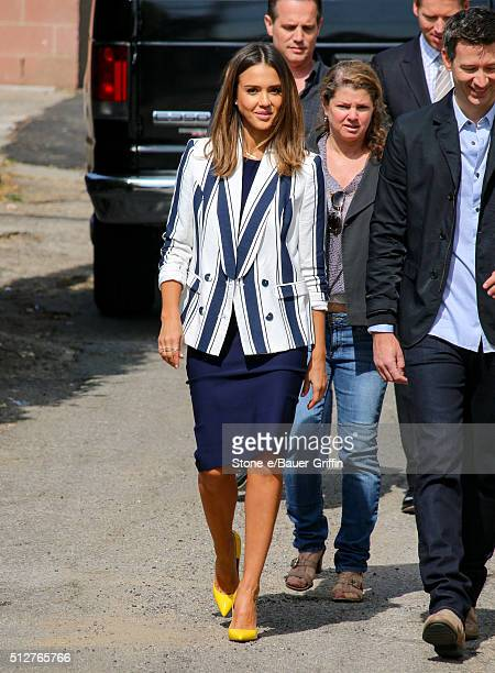 Jessica Alba is seen on set on February 27 2016 in Los Angeles California