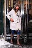 Jessica Alba is seen running errands in Manhattan on January 21 2014 in New York City