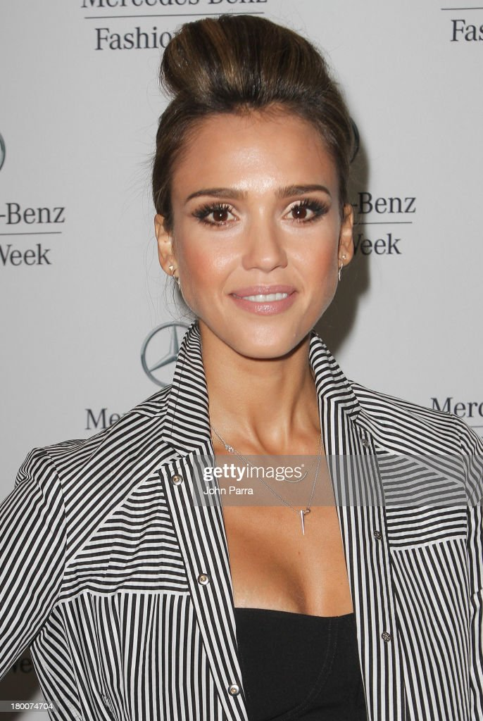 Jessica Alba seen around Lincoln Center during Spring 2014 Mercedes-Benz Fashion Week on September 8, 2013 in New York City.