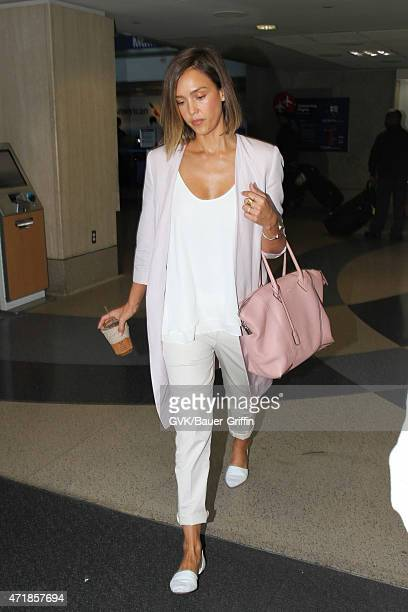 Jessica Alba seen at LAX on May 01 2015 in Los Angeles California