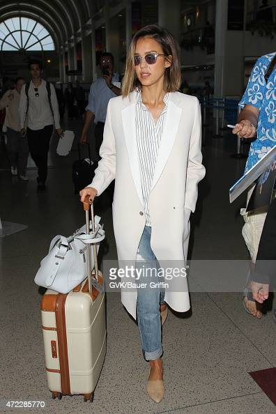 Jessica Alba seen at LAX on May 05 2015 in Los Angeles California
