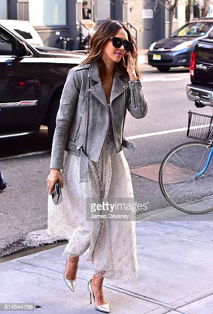 Jessica Alba seen on the streets of Manhattan on March 9 2016 in New York City
