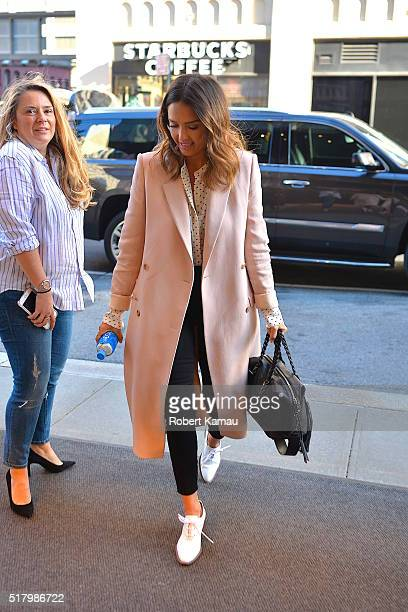 Jessica Alba seen out in SoHo on March 29 2016 in New York City