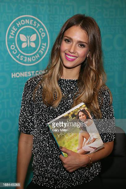 Jessica Alba signs copies of her book 'The Honest Life' at Book People on May 9 2013 in Austin Texas