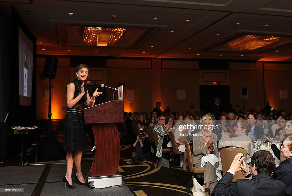 Jessica Alba speaks at Champion For Children Award Ceremony Honoring Jessica Alba at Hyatt Regency Greenwich on May 20, 2013 in Greenwich, Connecticut.