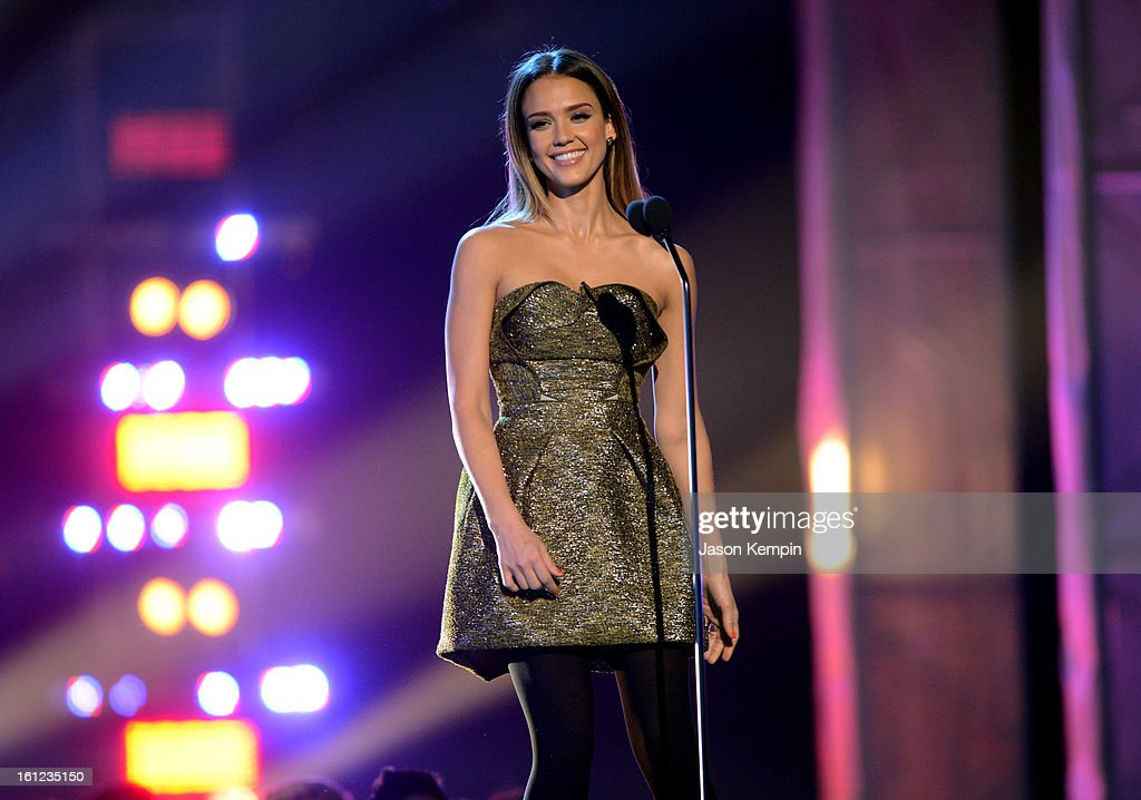 Jessica Alba speaks onstage at the Third Annual Hall of Game Awards hosted by Cartoon Network at Barker Hangar on February 9, 2013 in Santa Monica, California. 23270_003_JK_0364.JPG
