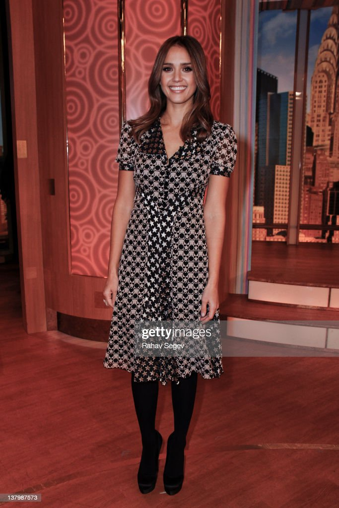 Jessica Alba visits 'The Wendy Williams Show' at The Wendy Williams Show Studio on January 30 2012 in New York City