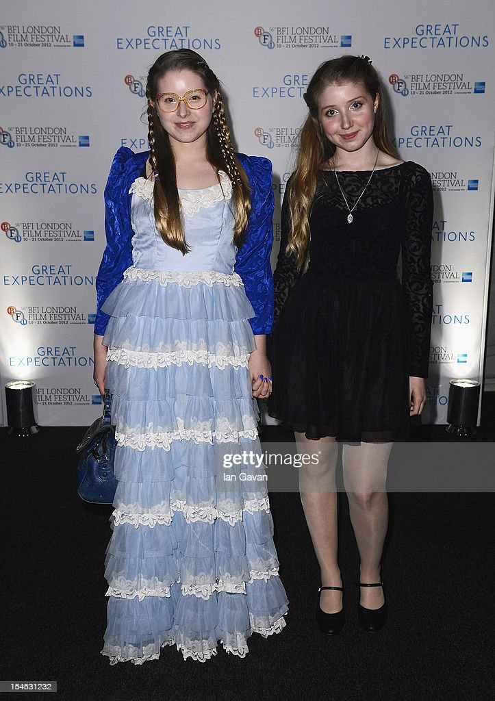 Jessica (L) and Bebe Cave attend the afterparty for 'Great Expectations' which closes the 56th BFI London Film Festival at Battersea Power Station on October 21, 2012 in London, England.