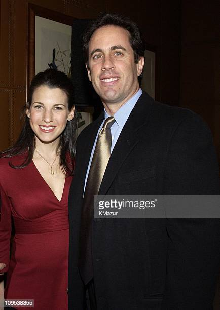Jessica and Jerry Seinfeld during Tony Bennett and Columbia Records Chairman Don Ienner Host Party for Frank Sinatra School of the Arts at the Sony...