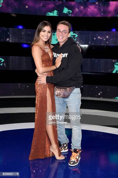 Jessica Andrea and Logic attend the 2017 MTV Video Music Awards at The Forum on August 27 2017 in Inglewood California