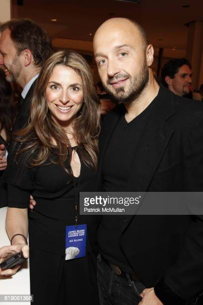 Jessica Aufiero and Joe Bastianich attend James Beard Foundation Awards 2010 at Lincoln Center on May 3 2010 in New York
