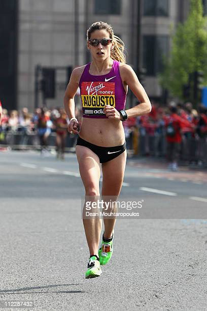 Jessica Augusto of Portugal in action during the Virgin London Marathon 2011 on April 17 2011 in London England
