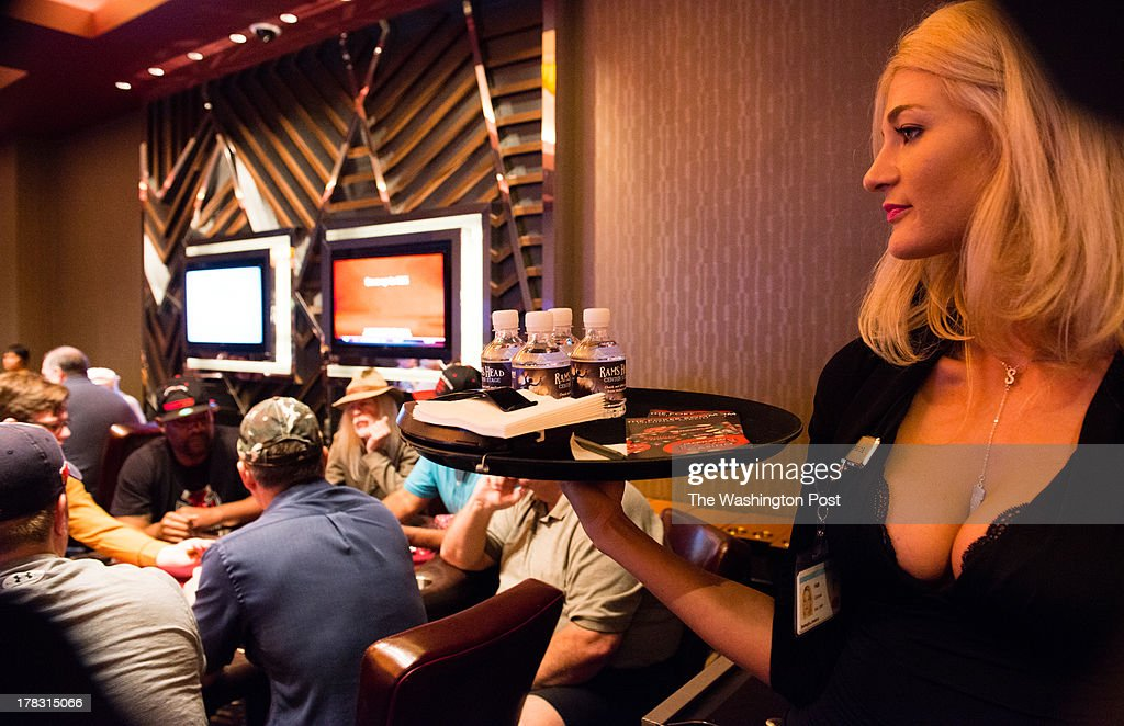 Jessica Battaglia Cocktail Server Waits For An Order The Poker Room At Maryland  Live Casino Opened