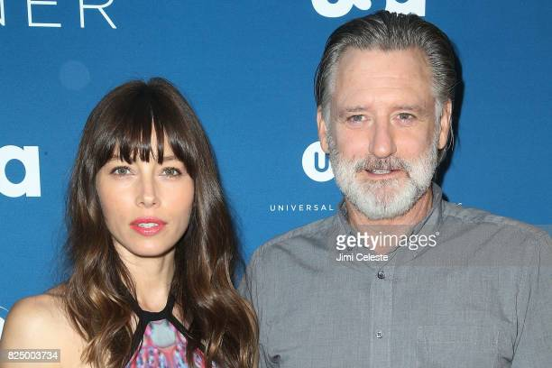 Jessica Biel and Bill Pullman attend the series premiere screening of 'The Sinner' at Crosby Street Hotel on July 31 2017 in New York City