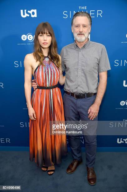 Jessica Biel and Bill Pullman attend 'The Sinner' Series Premiere Screening at Crosby Street Hotel on July 31 2017 in New York City