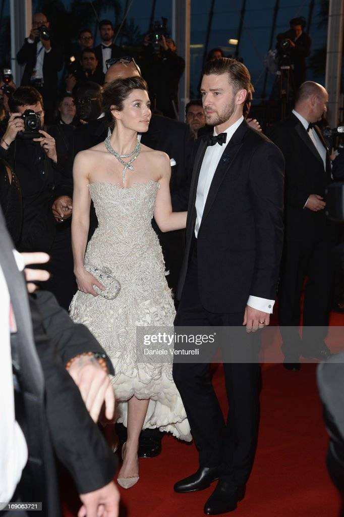 Jessica Biel and Justin Timberlake after the Premiere of 'Inside Llewyn Davis' during the 66th Annual Cannes Film Festival at Palais des Festivals on May 19, 2013 in Cannes, France.