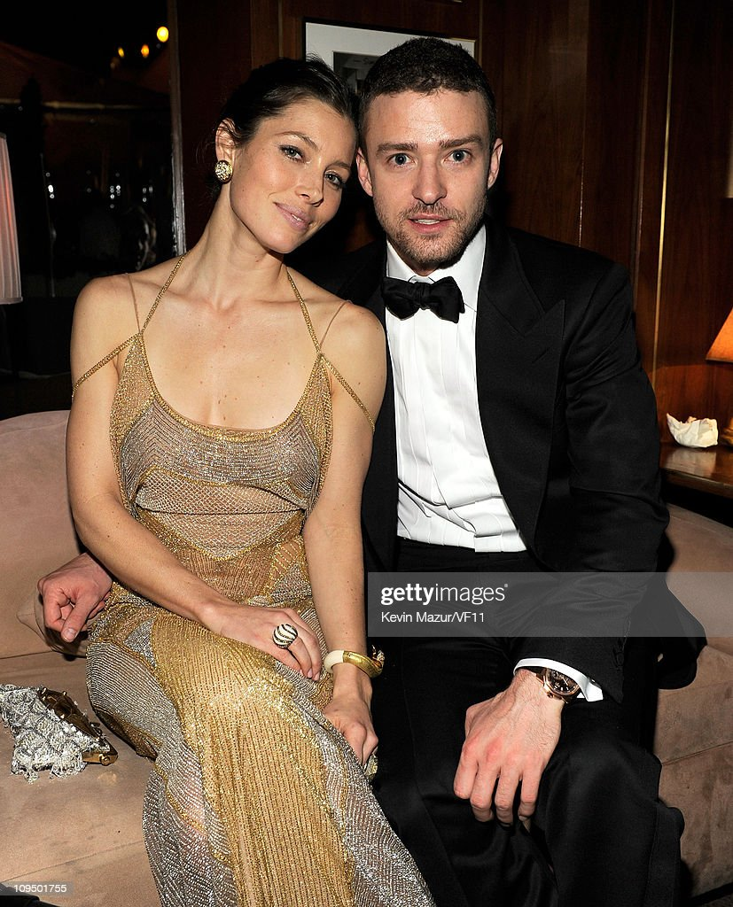 <a gi-track='captionPersonalityLinkClicked' href=/galleries/search?phrase=Jessica+Biel&family=editorial&specificpeople=203011 ng-click='$event.stopPropagation()'>Jessica Biel</a> and <a gi-track='captionPersonalityLinkClicked' href=/galleries/search?phrase=Justin+Timberlake&family=editorial&specificpeople=157482 ng-click='$event.stopPropagation()'>Justin Timberlake</a> attend the 2011 Vanity Fair Oscar Party Hosted by Graydon Carter at the Sunset Tower Hotel on February 27, 2011 in West Hollywood, California.