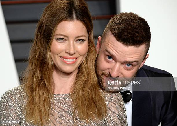 Jessica Biel and Justin Timberlake attend the 2016 Vanity Fair Oscar Party hosted By Graydon Carter at Wallis Annenberg Center for the Performing...