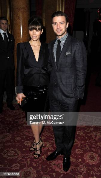 Jessica Biel and Justin Timberlake attend the Tom Ford show during London Fashion Week Fall/Winter 2013/14 at on February 18 2013 in London England