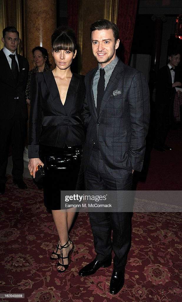 <a gi-track='captionPersonalityLinkClicked' href=/galleries/search?phrase=Jessica+Biel&family=editorial&specificpeople=203011 ng-click='$event.stopPropagation()'>Jessica Biel</a> and <a gi-track='captionPersonalityLinkClicked' href=/galleries/search?phrase=Justin+Timberlake&family=editorial&specificpeople=157482 ng-click='$event.stopPropagation()'>Justin Timberlake</a> attend the Tom Ford show during London Fashion Week Fall/Winter 2013/14 at on February 18, 2013 in London, England.