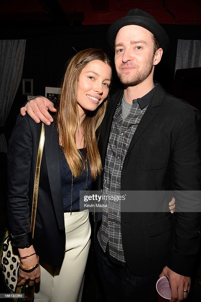 <a gi-track='captionPersonalityLinkClicked' href=/galleries/search?phrase=Jessica+Biel&family=editorial&specificpeople=203011 ng-click='$event.stopPropagation()'>Jessica Biel</a> and <a gi-track='captionPersonalityLinkClicked' href=/galleries/search?phrase=Justin+Timberlake&family=editorial&specificpeople=157482 ng-click='$event.stopPropagation()'>Justin Timberlake</a> backstage after MasterCard Priceless Premieres presents <a gi-track='captionPersonalityLinkClicked' href=/galleries/search?phrase=Justin+Timberlake&family=editorial&specificpeople=157482 ng-click='$event.stopPropagation()'>Justin Timberlake</a> at Roseland Ballroom on May 5, 2013 in New York City.