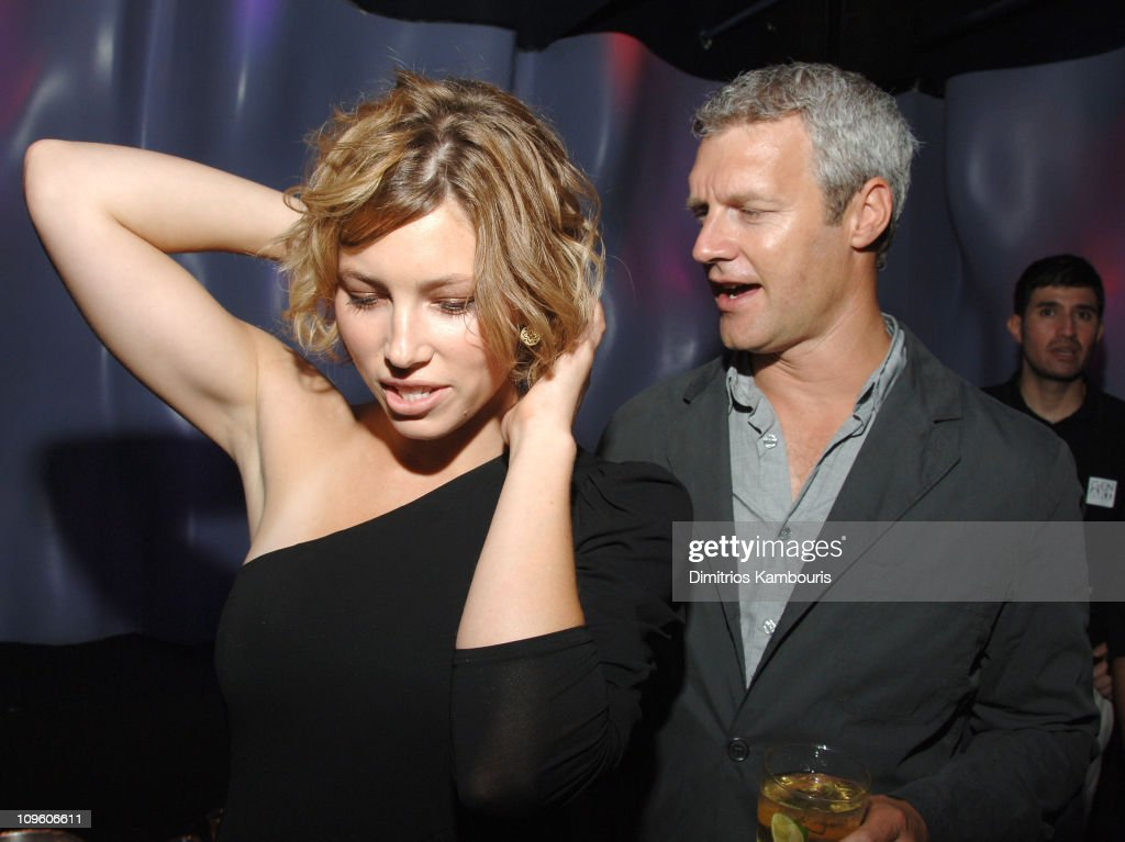 Jessica Biel and Neil Burger director during The Illusionist New York Premiere After Party at AER in New York City New York United States